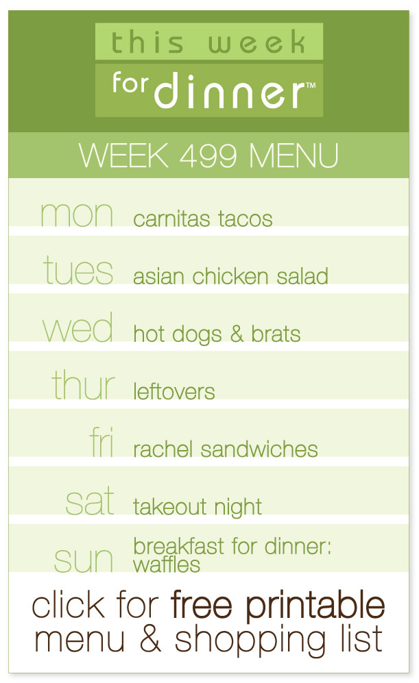 Week 499 Weekly Dinner Menu from @janemaynard including FREE printable meal plan and shopping list!