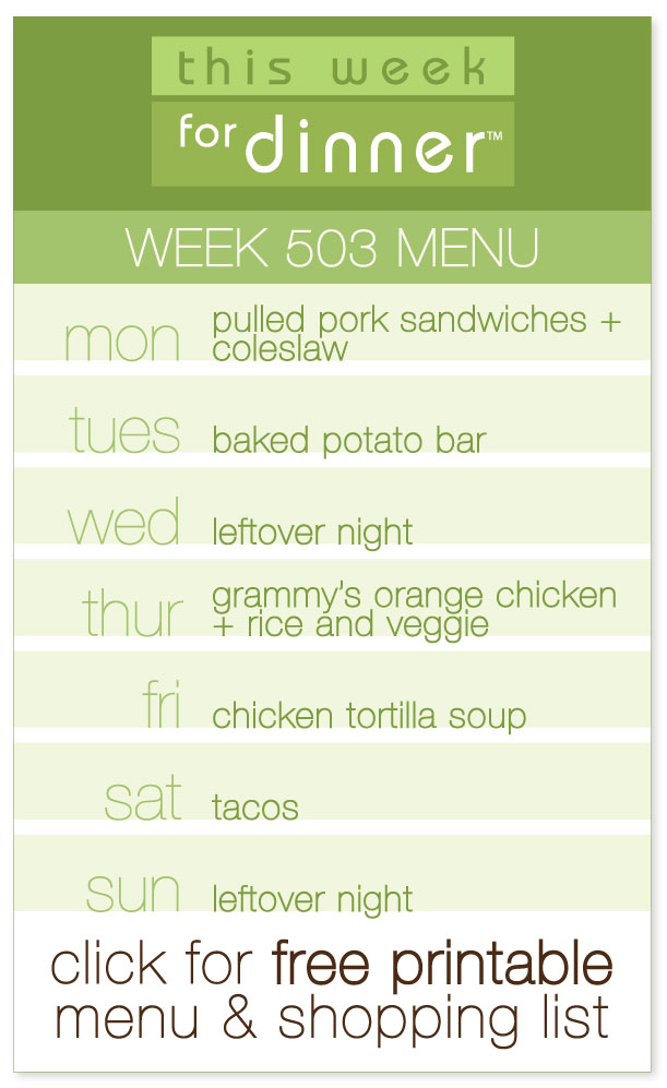 Week 503 Weekly Menu from @janemaynard including FREE printable meal plan and shopping list!