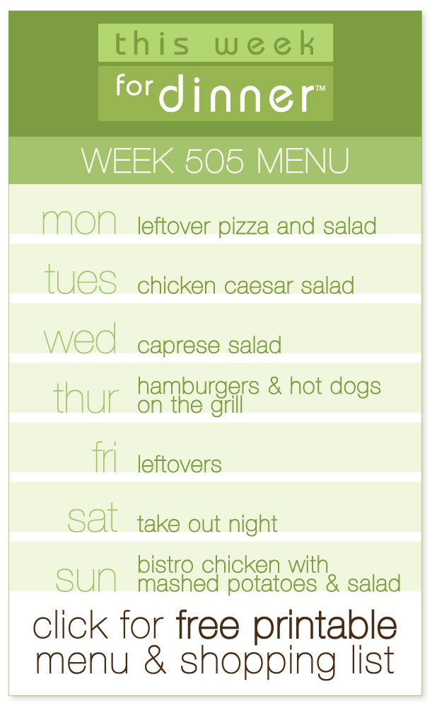 Week 505 Weekly Menu from @janemaynard including FREE printable PDF with meal plan and ingredients list!