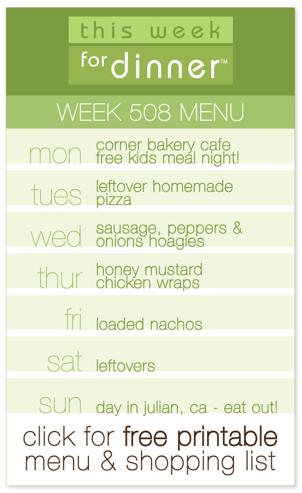 Week 508 Weekly Menu from @janemaynard including FREE pdf printable menu and ingredients list!