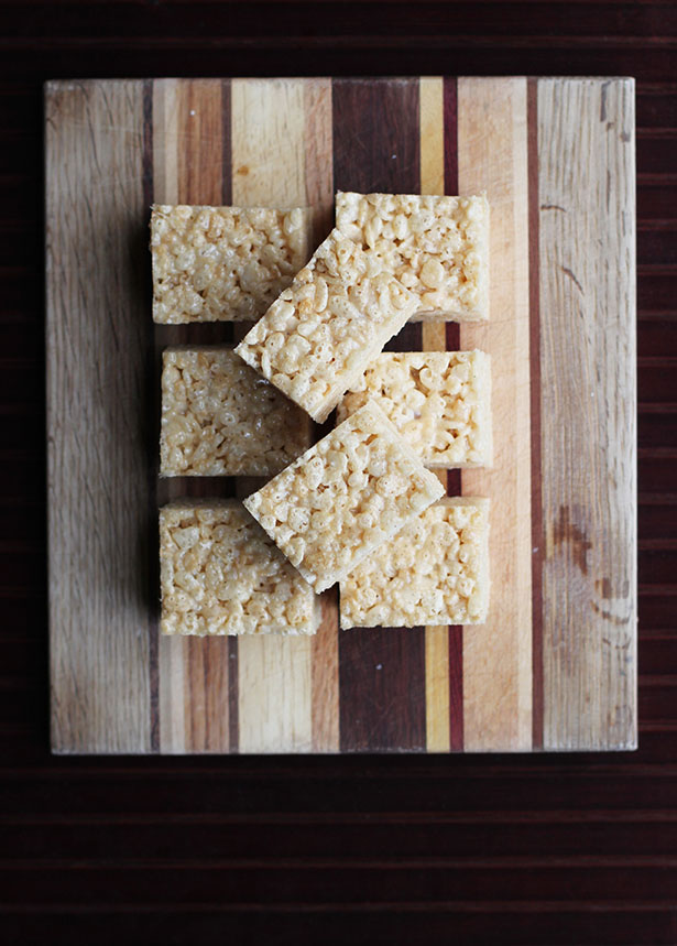 Recipe for Sea Salt and Brown Butter Rice Crispy Treats from @janemaynard