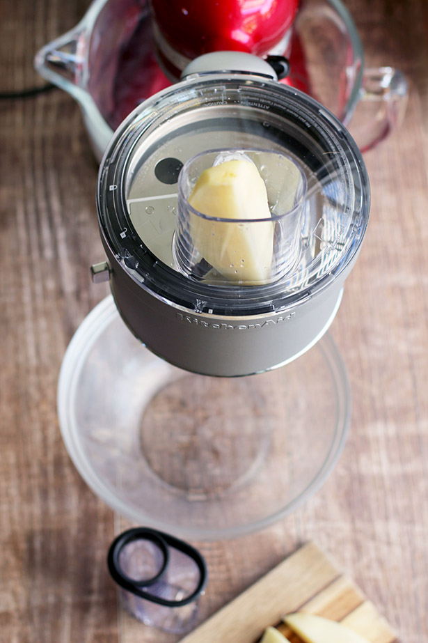 Making French Chips (aka fries that look like chips!) with the KitchenAid stand mixer food processor attachment - recipe included, from @janemaynard