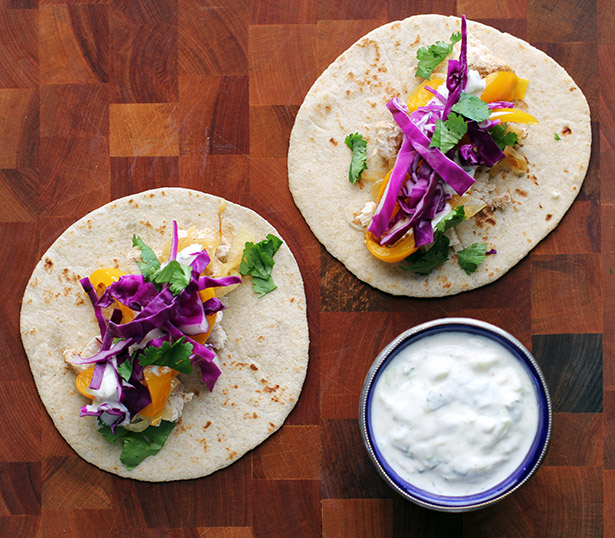 Indian Tacos with Tandoori Chicken and Raita from @janemaynard