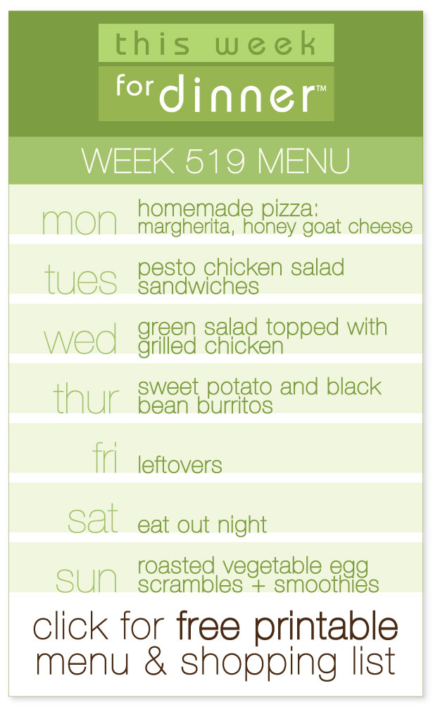 This Week for Dinner: Week 519 Weekly Dinner Menu, Including FREE Printable PDF & Ingredients List from @janemaynard