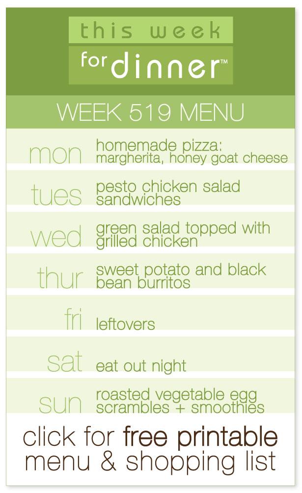 This Week for Dinner: Week 519 Weekly Dinner Menu, Including FREE Printable PDF & Ingredients List from @janemaynard