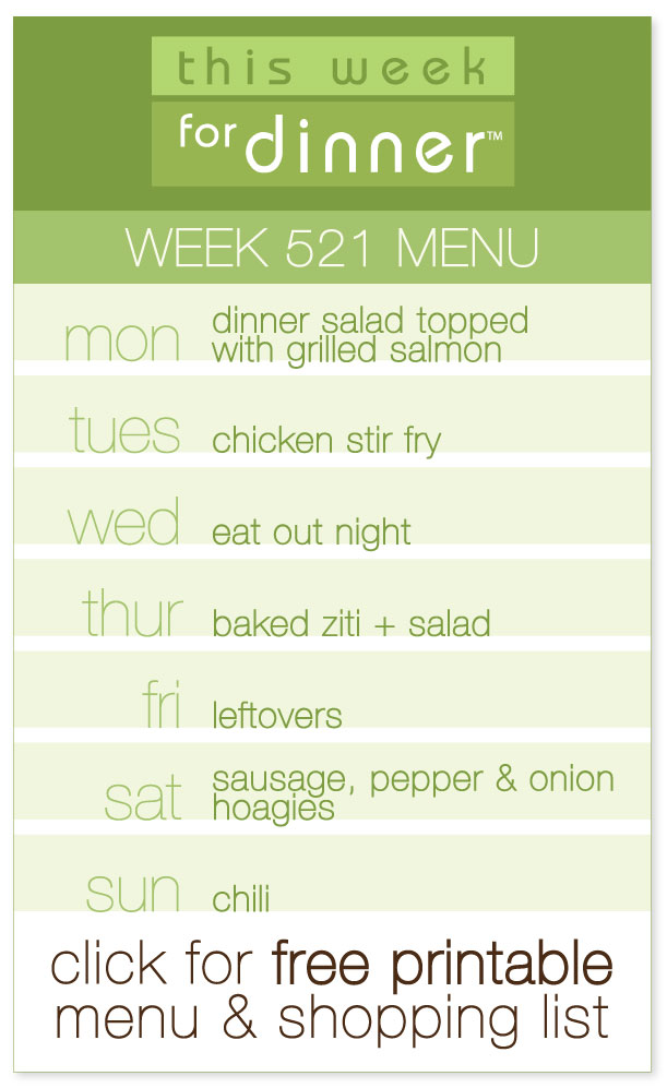 Week 521 Weekly Menu from @janemaynard including FREE printable dinner meal plan and ingredients list!