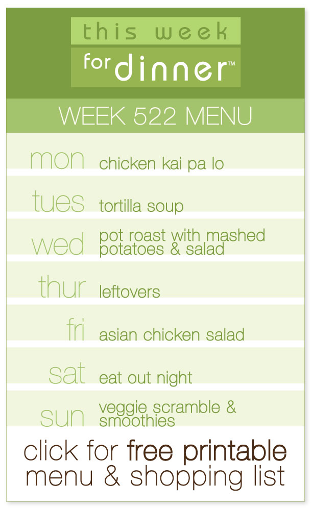 Week 522 Weekly Dinner Menu from @janemaynard including FREE printable PDF with meal plan and ingredients list