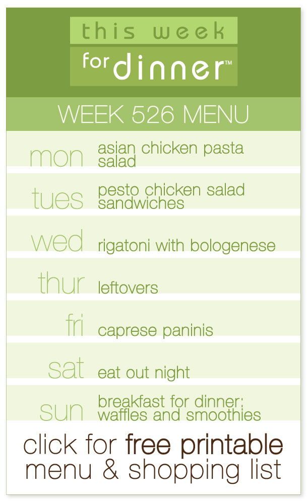 Week 526 Weekly Menu from @janemaynard including FREE printable PDF with dinner plan and ingredients list!