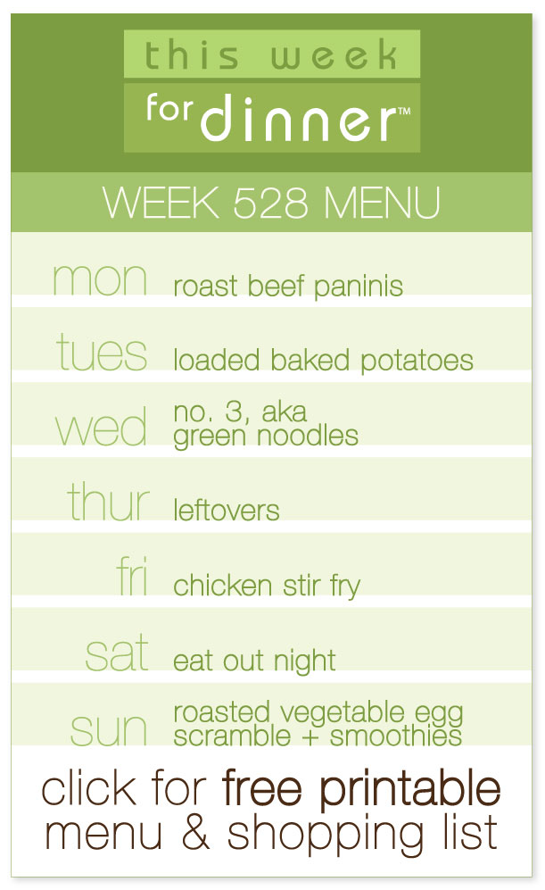 Week 528 Weekly Dinner Menu with printable PDF with dinner plan and ingredients list from @janemaynard