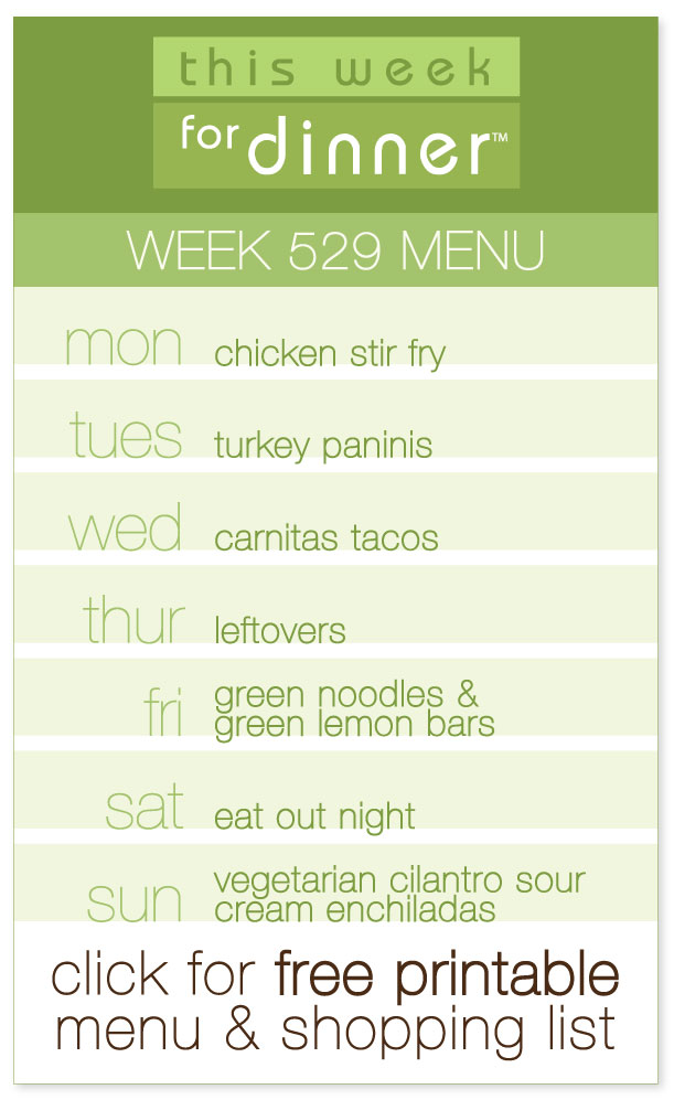Week 529 Weekly Dinner Menu including FREE printable PDF with meal plan and ingredients list from @janemaynard