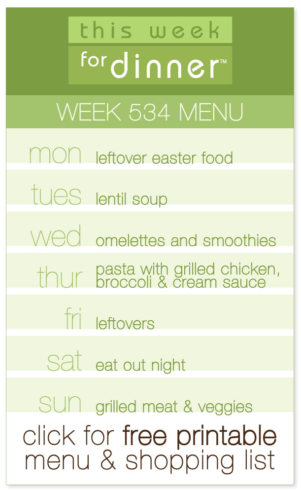 Week 534 Weekly Diner Menu with free printable PDF with meal plan and ingredients list from @janemaynard