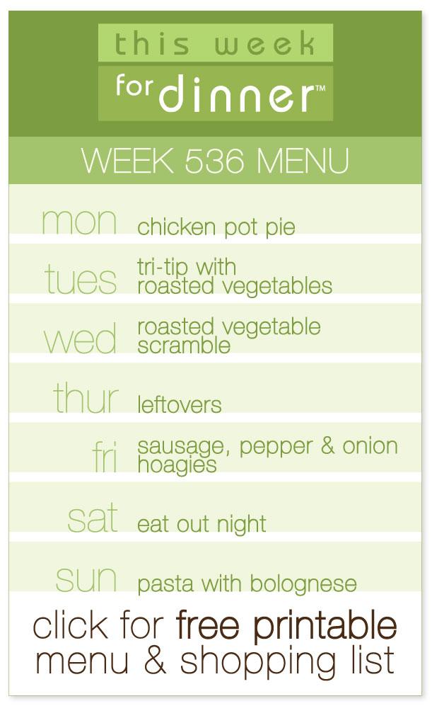 Week 536 Weekly Dinner Menu with FREE printable PDF with ingredients list from @janemaynard