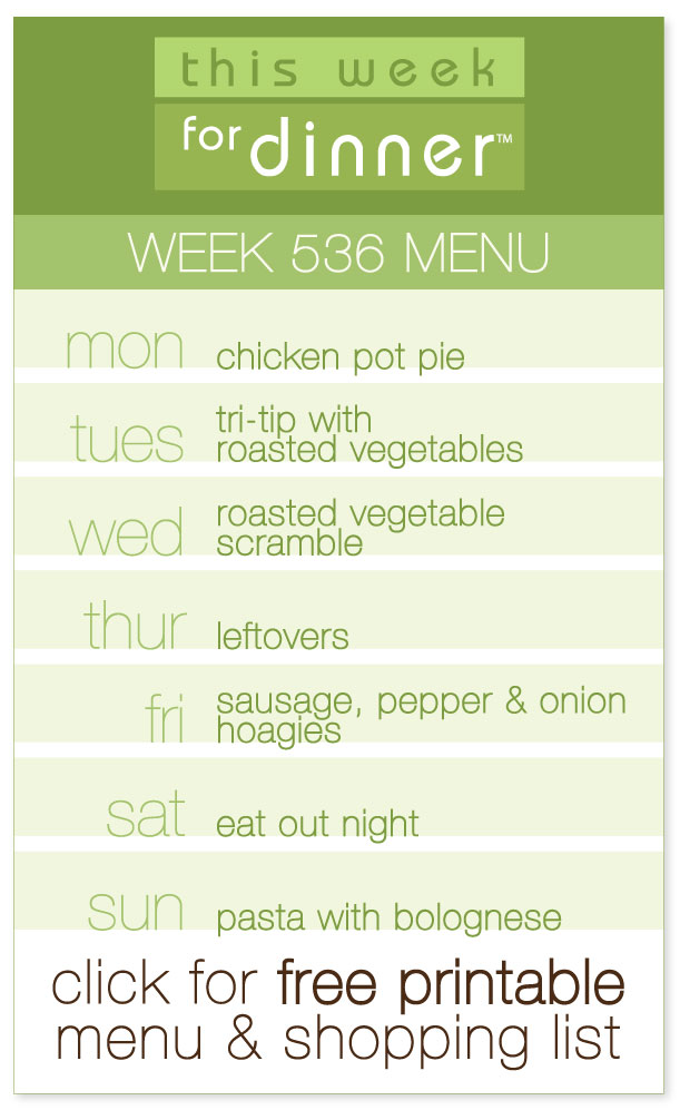 Week 536 Weekly Dinner Menu with FREE printable PDF with ingredients list from @janemaynard