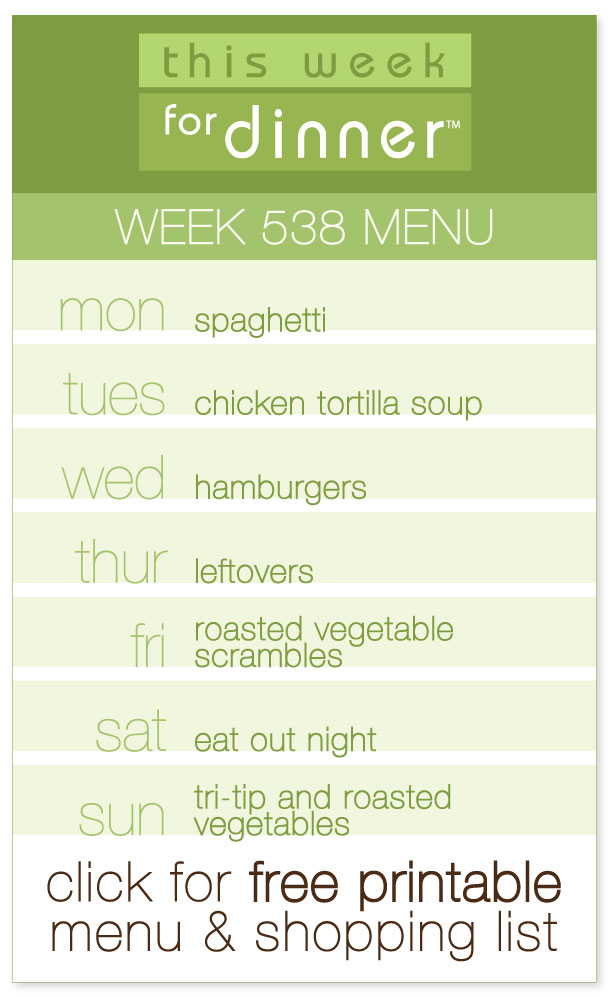 Week 538 Weekly Menu including FREE printable PDF of the dinner plan and ingredients list from @janemaynard