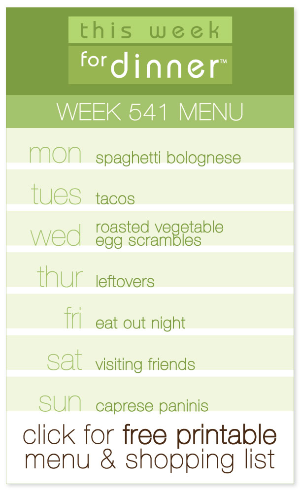 Week 541 Weekly Menu from @janemaynard including FREE printable PDF with dinner plan and shopping list!