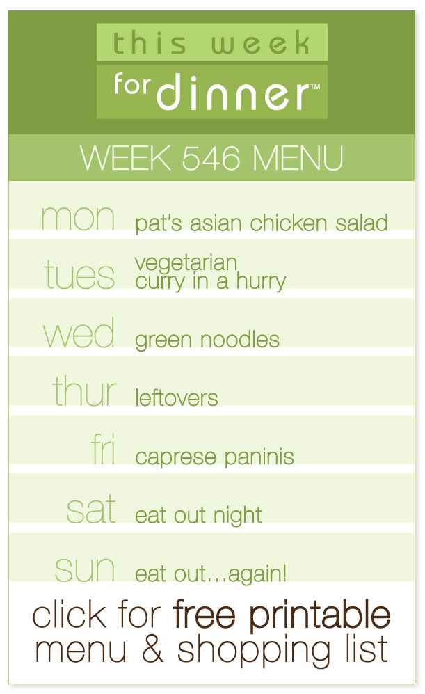 Week 546 Weekly Menu from @janemaynard including FREE printable PDF with meal plan and ingredients list!