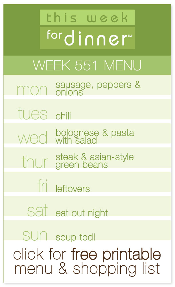 Week 551 Weekly Menu from @janemaynard including FREE printable PDF of the meal plan and ingredients list!