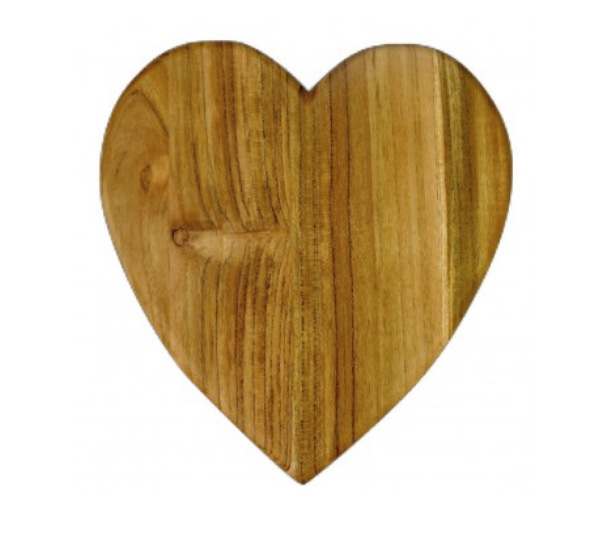 Gifts That Give Back: To The Market's Heart-Shaped Wooden Cutting Board