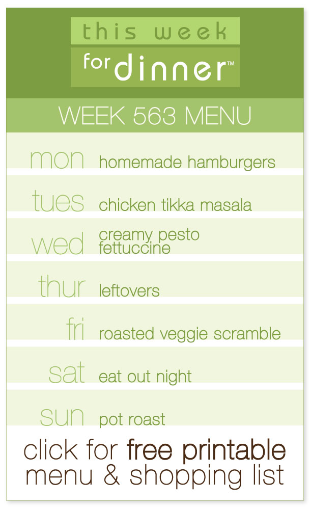 Week 563 Weekly Menu from @janemaynard