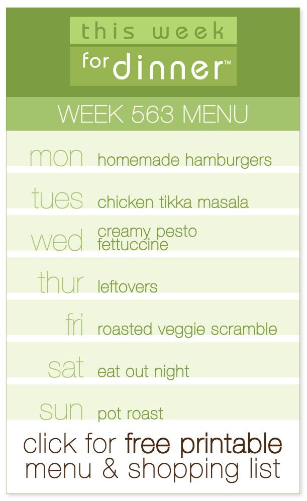 Week 563 Weekly Menu from @janemaynard