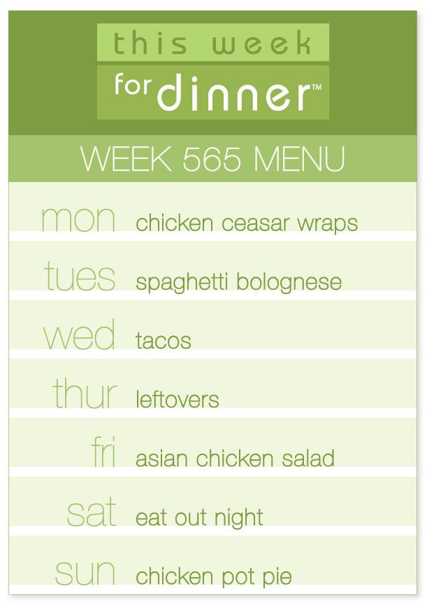 Week 565 Weekly Menu from @janemaynard