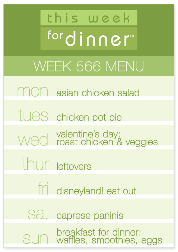 Week 566 Weekly Menu from @thisweekfordinner