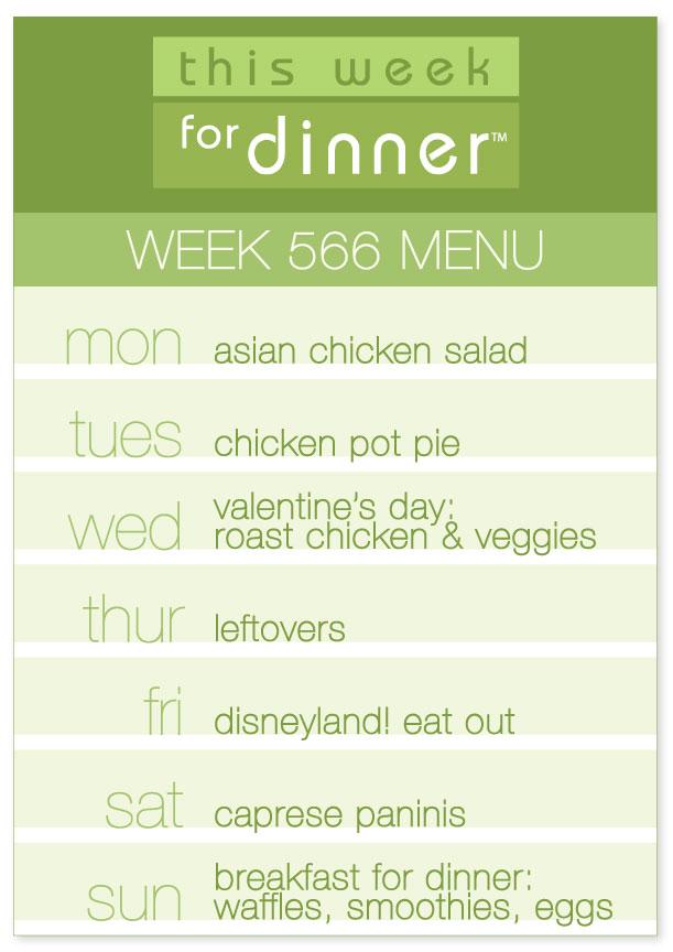 Week 566 Weekly Menu from @thisweekfordinner
