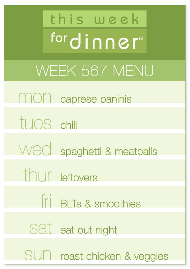 This Week for Dinner: Week 567 Weekly Menu - This Week for Dinner