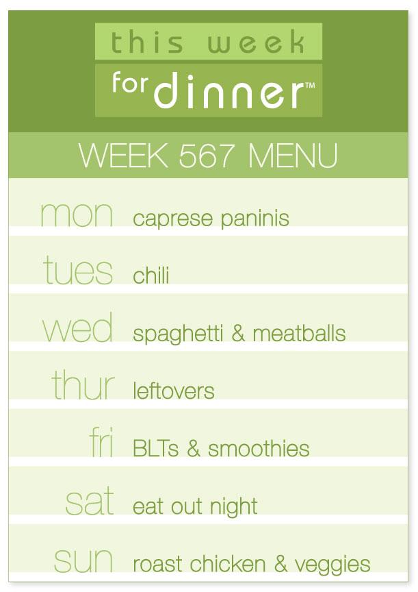 Week 567 Weekly Menu from @janemaynard