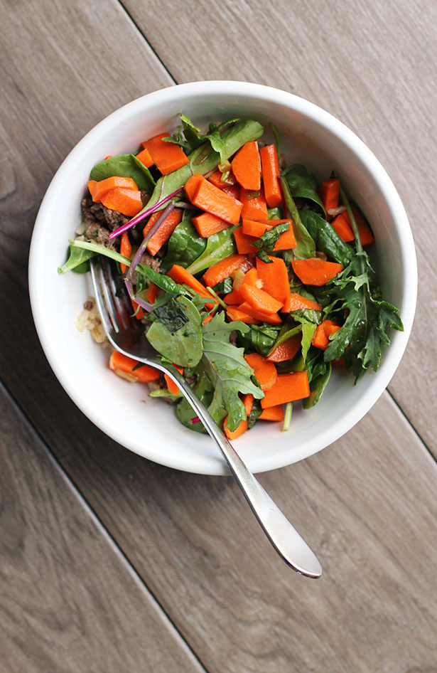 Thai Basil Beef with Greens and Carrots