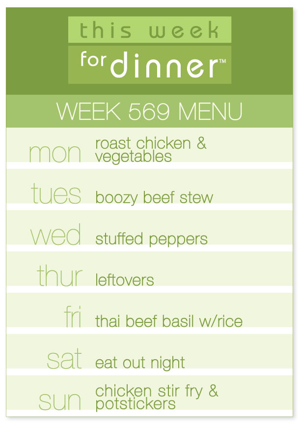 Week 569 Weekly Menu from @janemaynard