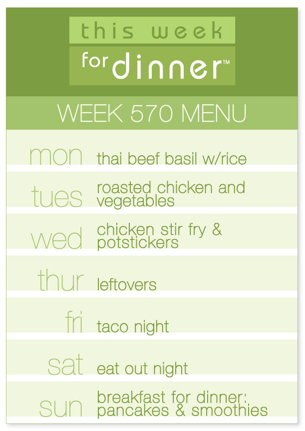 Week 570 Weekly Menu from @janemaynard