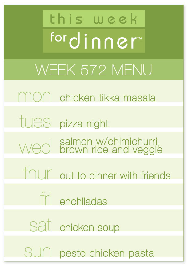 Week 572 Weekly Menu from @janemaynard