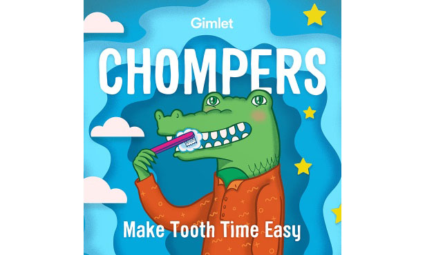 Chompers, the kids' tooth brushing podcast that rocks