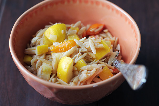 Easy and tasty kitchen sink orzo bowl recipe