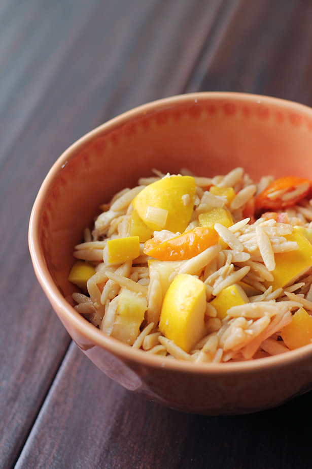 Recipe for Kitchen Sink Orzo Bowls - use whatever you have in the kitchen to make this delicious go-to dinner
