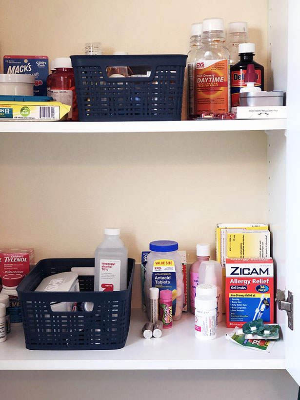 Our newly-organzied medicine cabinet, one that would make any pharmacist happy!
