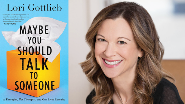 "Cover of ""Maybe You Should Talk To Someone"" and photo of the author Lori Gottlieb"