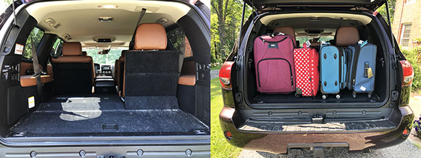 Storage space in the back of the 2019 Toyota Sequoia