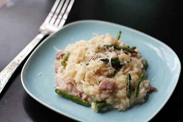 asparagus and prosciutto risotto recipe