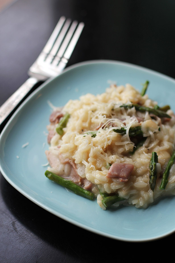 recipe for asparagus and prosciutto risotto