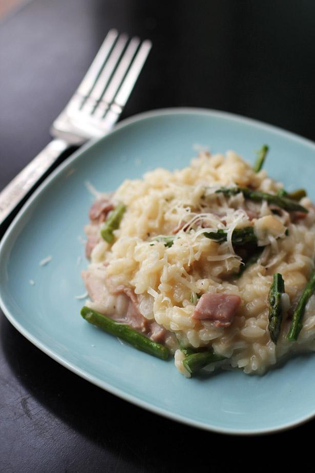 recipe for asparagus and prosciutto risotto