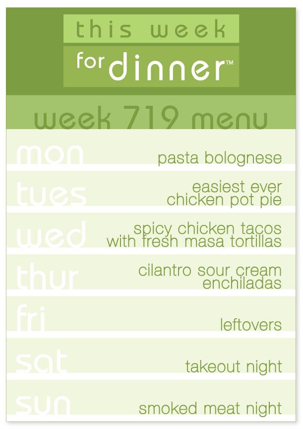 Week 719 Weekly Dinner