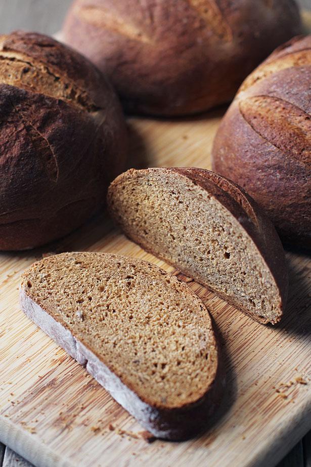 Loaves of Swedish Limpa bread